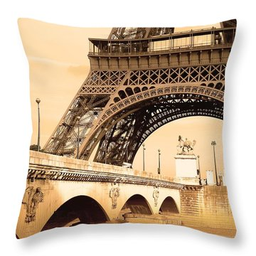 Eiffel Tower, Paris, France Throw Pillow by Carson Ganci