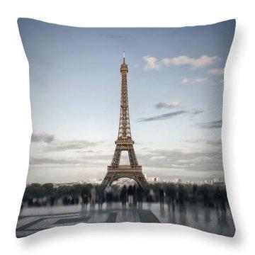 Eiffel Tower Paris Throw Pillow by Melanie Viola