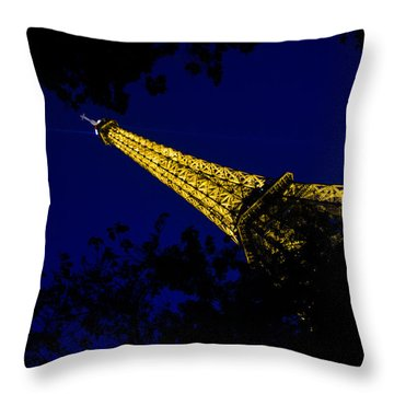 Eiffel's Magnificence Throw Pillow