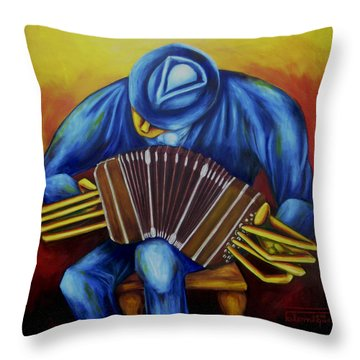 El Bandoneonista Throw Pillow