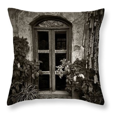El Sitio Window Throw Pillow by Tom Bell