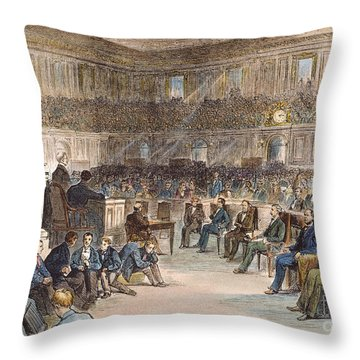 Electoral Commission, 1877 Throw Pillow by Granger