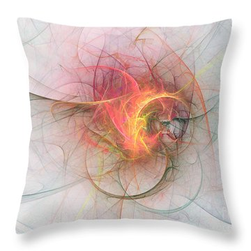 Electric Blossom Throw Pillow