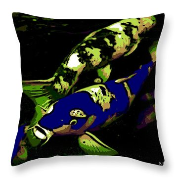 Electric Blue Throw Pillow by George Pedro