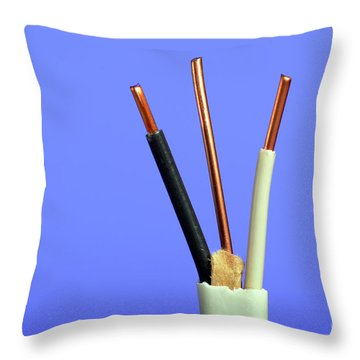Electrical Wire Throw Pillow