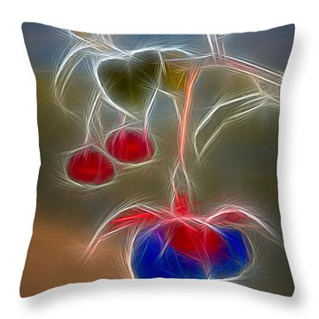 Electrifying Fuchsia Throw Pillow by Susan Candelario