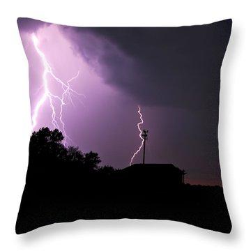 Electrifying Sky  Throw Pillow