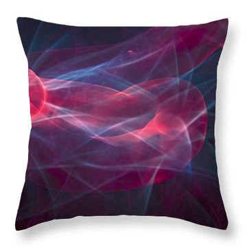 Electro Glow Ball-4 Throw Pillow