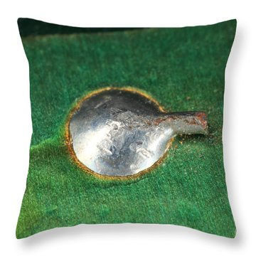 Electronics Board Solder Joint Throw Pillow by Ted Kinsman
