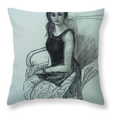Elegant Woman Throw Pillow