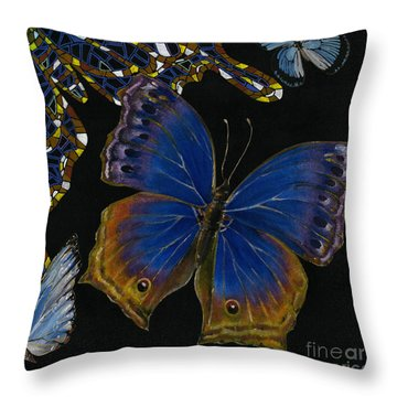 Elena Yakubovich - Butterfly 2x2 Lower Right Corner Throw Pillow by Elena Yakubovich