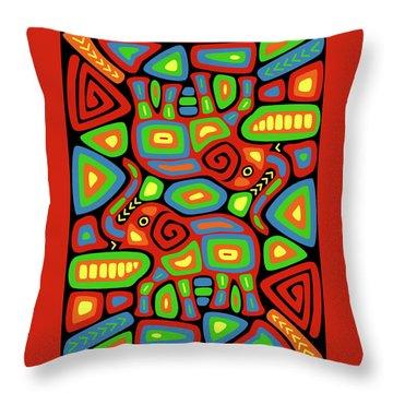 Elephant Mola Throw Pillow