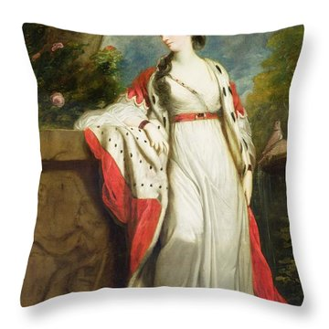 Elizabeth Gunning - Duchess Of Hamilton And Duchess Of Argyll Throw Pillow by Sir Joshua Reynolds