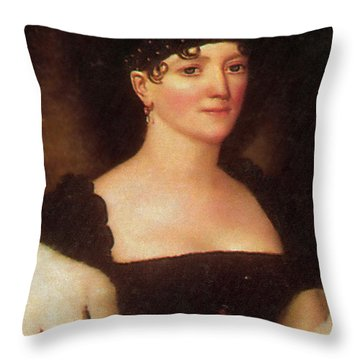 Elizabeth Monroe Throw Pillow by Photo Researchers