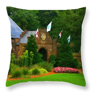 Elizabethan Garden Throw Pillow