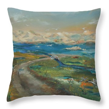 Elkhorn Slough Throw Pillow by Gail Daley