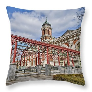 Ellis Island  Throw Pillow by Susan Candelario