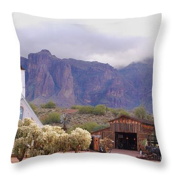 Throw Pillow featuring the photograph Elvis Memorial Chapel by Tam Ryan