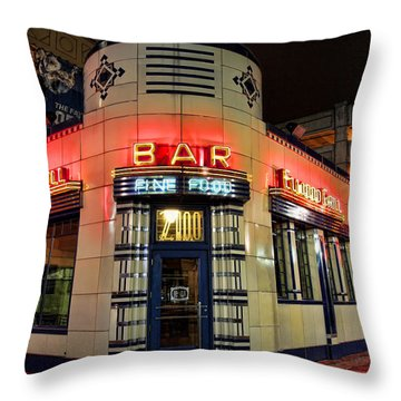 Elwood Bar And Grill Detroit Michigan Throw Pillow by Gordon Dean II