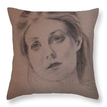 Throw Pillow featuring the painting Em by Carol Berning