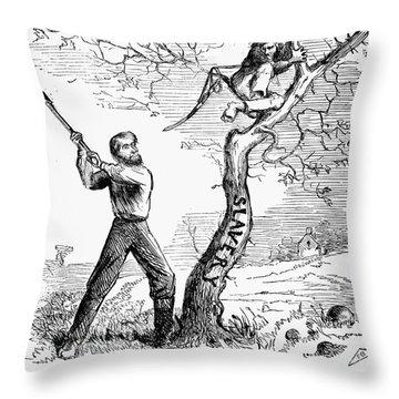 Emancipation Cartoon, 1862 Throw Pillow by Granger