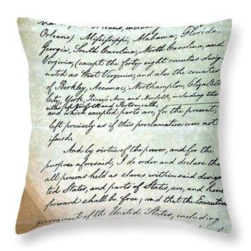 Emancipation Proc., P. 3 Throw Pillow by Granger
