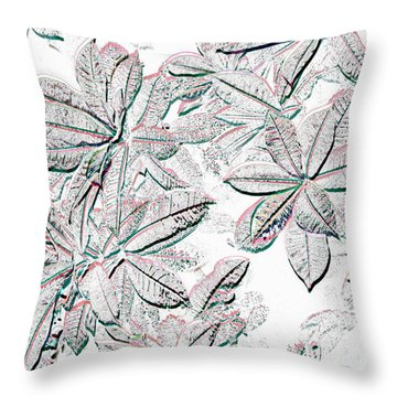 Throw Pillow featuring the photograph Embossed Crotons by Tom Wurl