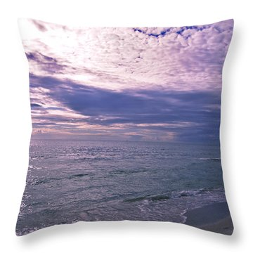 Throw Pillow featuring the photograph Emerald At Dusk by Brian Wright