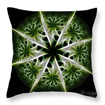Emerald Tales Throw Pillow by Danuta Bennett
