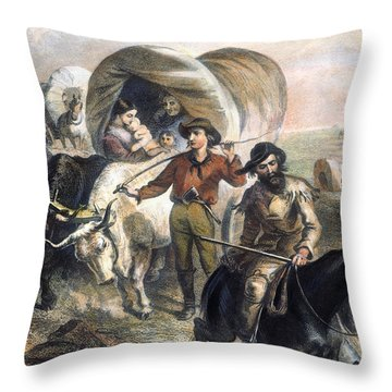 Emigrants To West, 1874 Throw Pillow by Granger