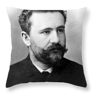 Emil Kraepelin, German Psychiatrist Throw Pillow by Science Source