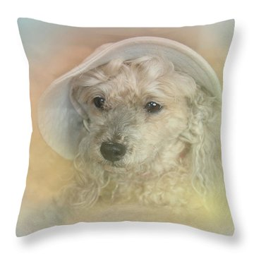 Emily's Bonnet Throw Pillow