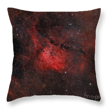 Emission Nebula Ngc 6820 Throw Pillow by Rolf Geissinger