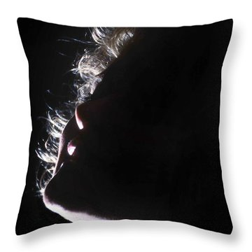 Emote Number One Throw Pillow by Skip Willits