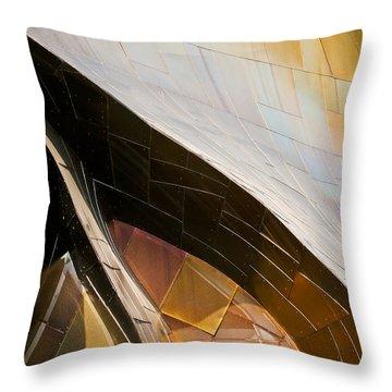 Emp Curves Throw Pillow by Chris Dutton