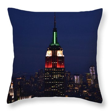 Empire State Building1 Throw Pillow by Zawhaus Photography