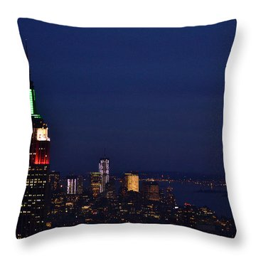 Empire State Building3 Throw Pillow by Zawhaus Photography