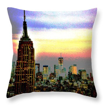 Empire State Building4 Throw Pillow by Zawhaus Photography