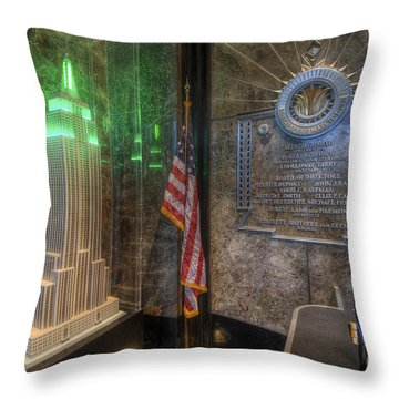 Empire State Model Throw Pillow by Yhun Suarez