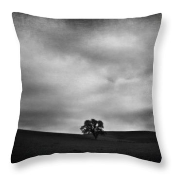 Emptiness Throw Pillow by Laurie Search