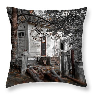 Empty And Abandoned Throw Pillow