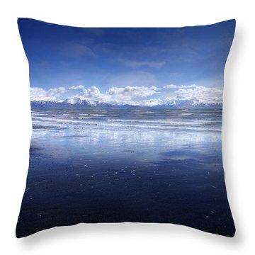 Empty Beach Throw Pillow by Michele Cornelius