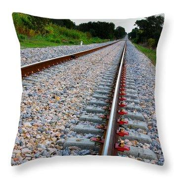 Empty Railway Throw Pillow by Carlos Caetano