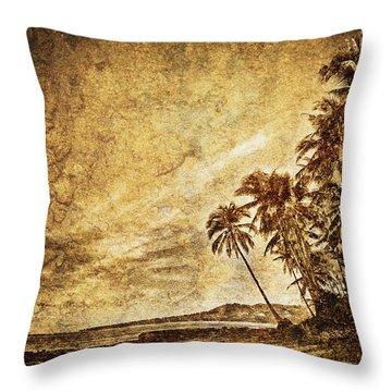 Empty Tropical Beach 3 Throw Pillow by Skip Nall