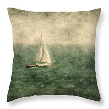 Empty Yacht  Throw Pillow by Svetlana Sewell