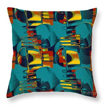En Formes 02 Throw Pillow by Aimelle