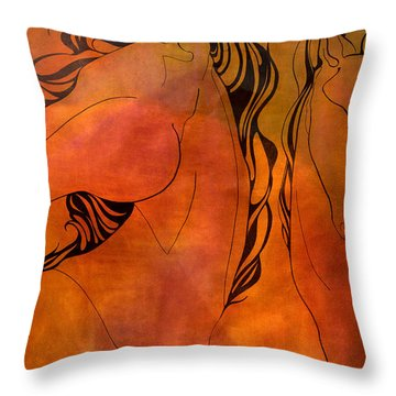 En Gallop Throw Pillow