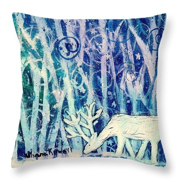 Enchanted Winter Forest Throw Pillow by Shana Rowe Jackson