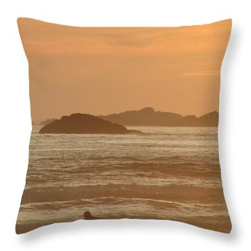 End Of Day Throw Pillow by Ramona Johnston