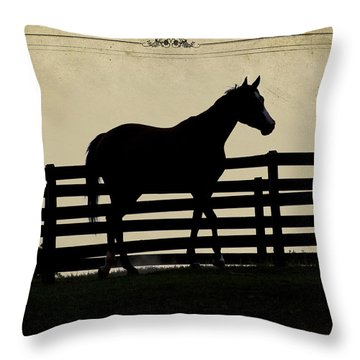 End Of The Day In Georgia - Horse Lovers Must See - Artist Cris Hayes Throw Pillow